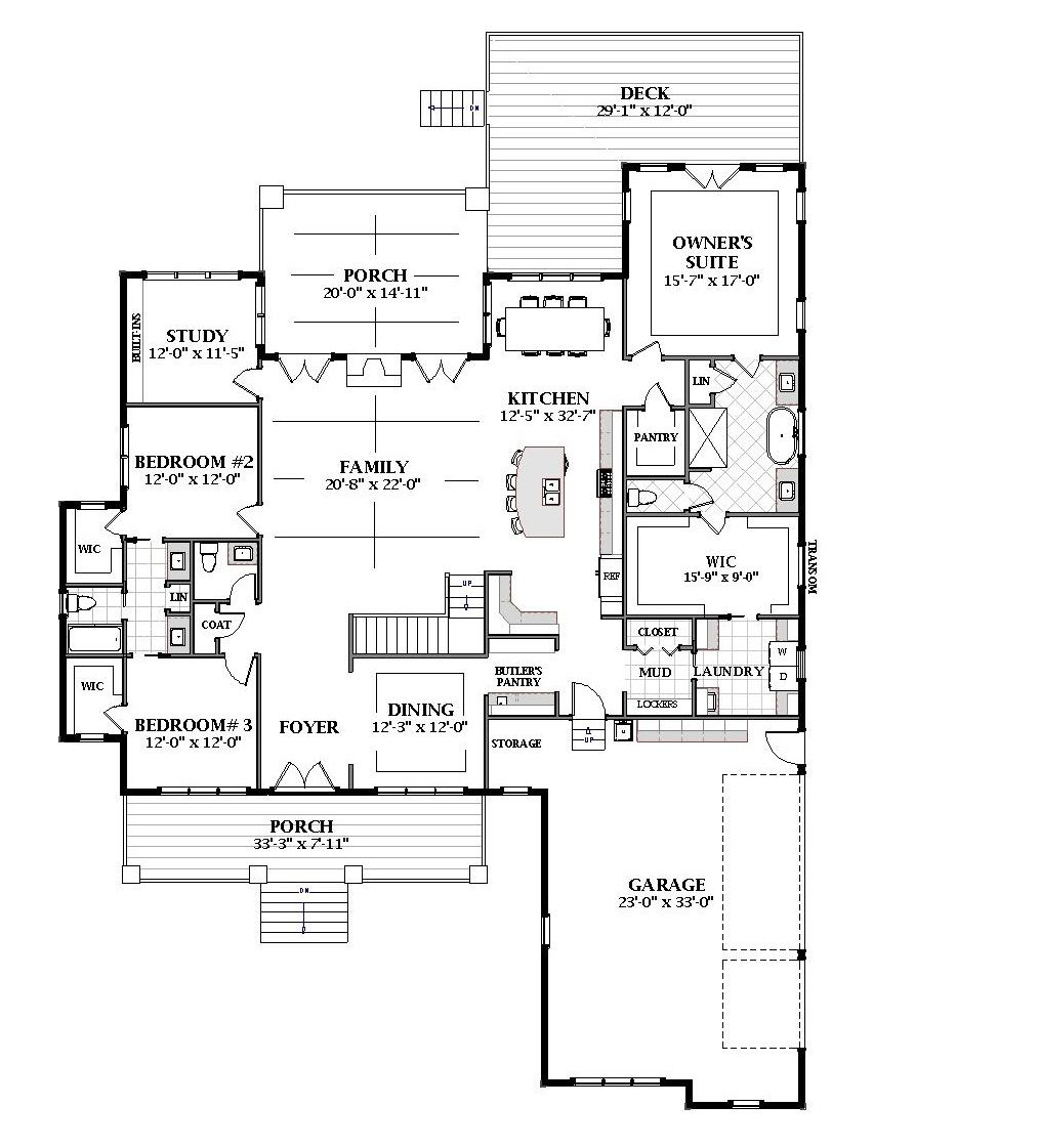 Country House Plan With 4 Bedrooms And 3 5 Baths Plan 7064 House Plans House Styles How To Plan