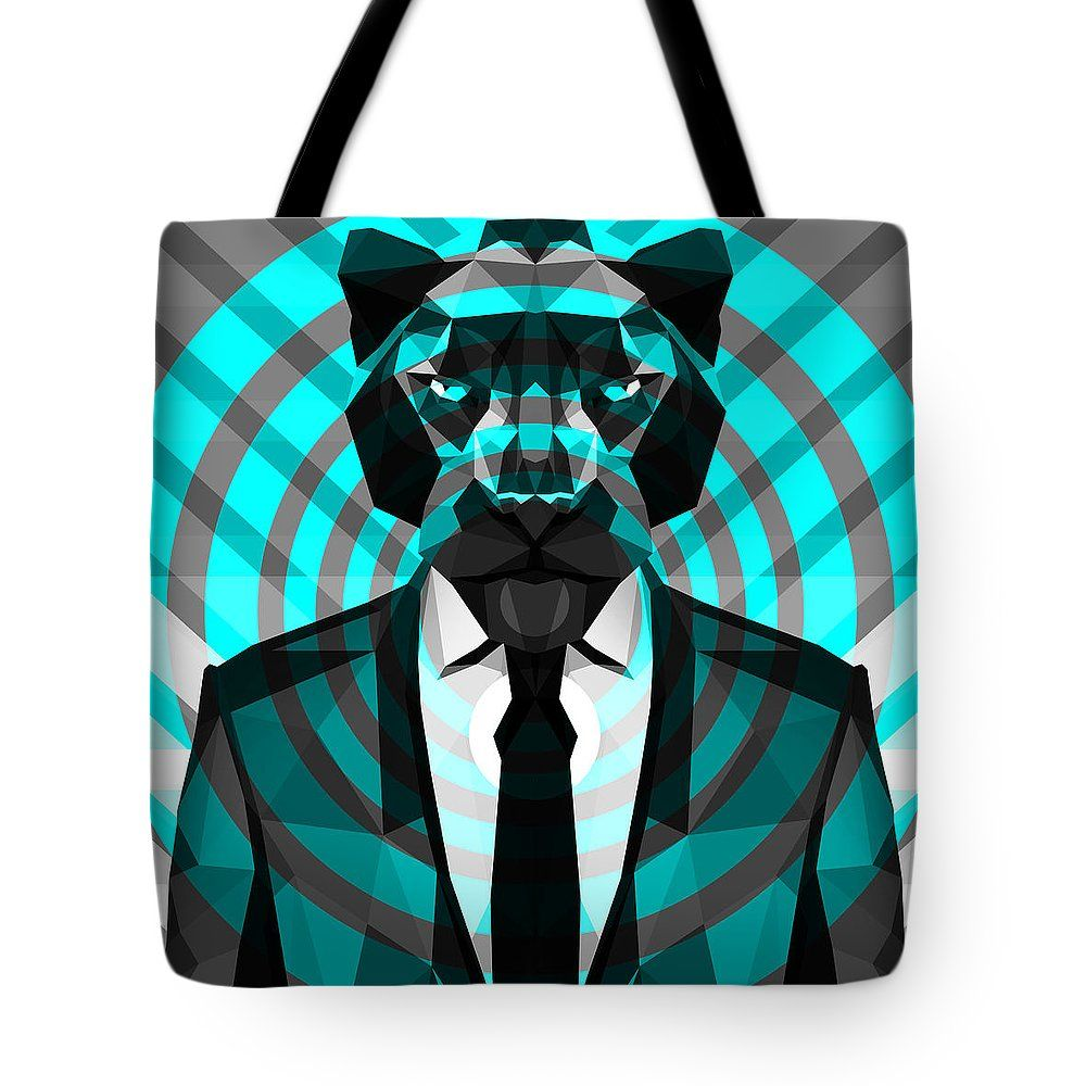 Panther Tote Bag Panther Bag Beach Bag Shopping Bag Large Bag by Filip Aleksandrov Art