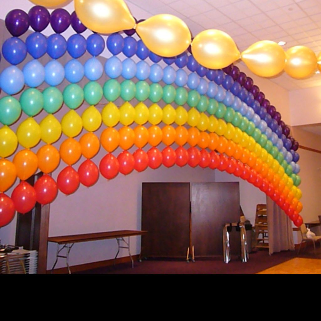 Quite an unusual choice for balloon decoration ideas but for Arches decoration ideas