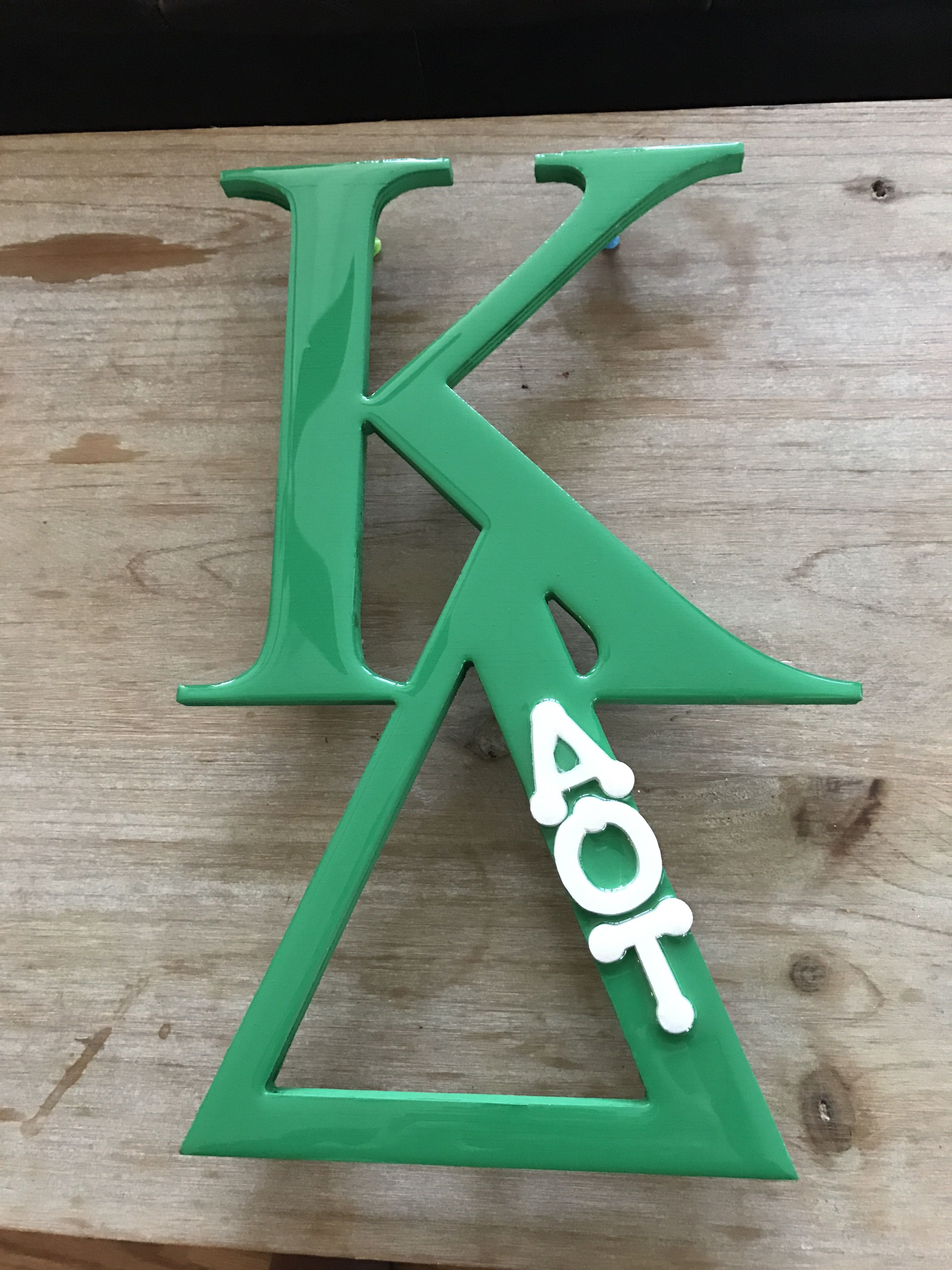 arkansaskd kappadeltahq kappa delta customized letters wood piece from chucks paint in stillwater