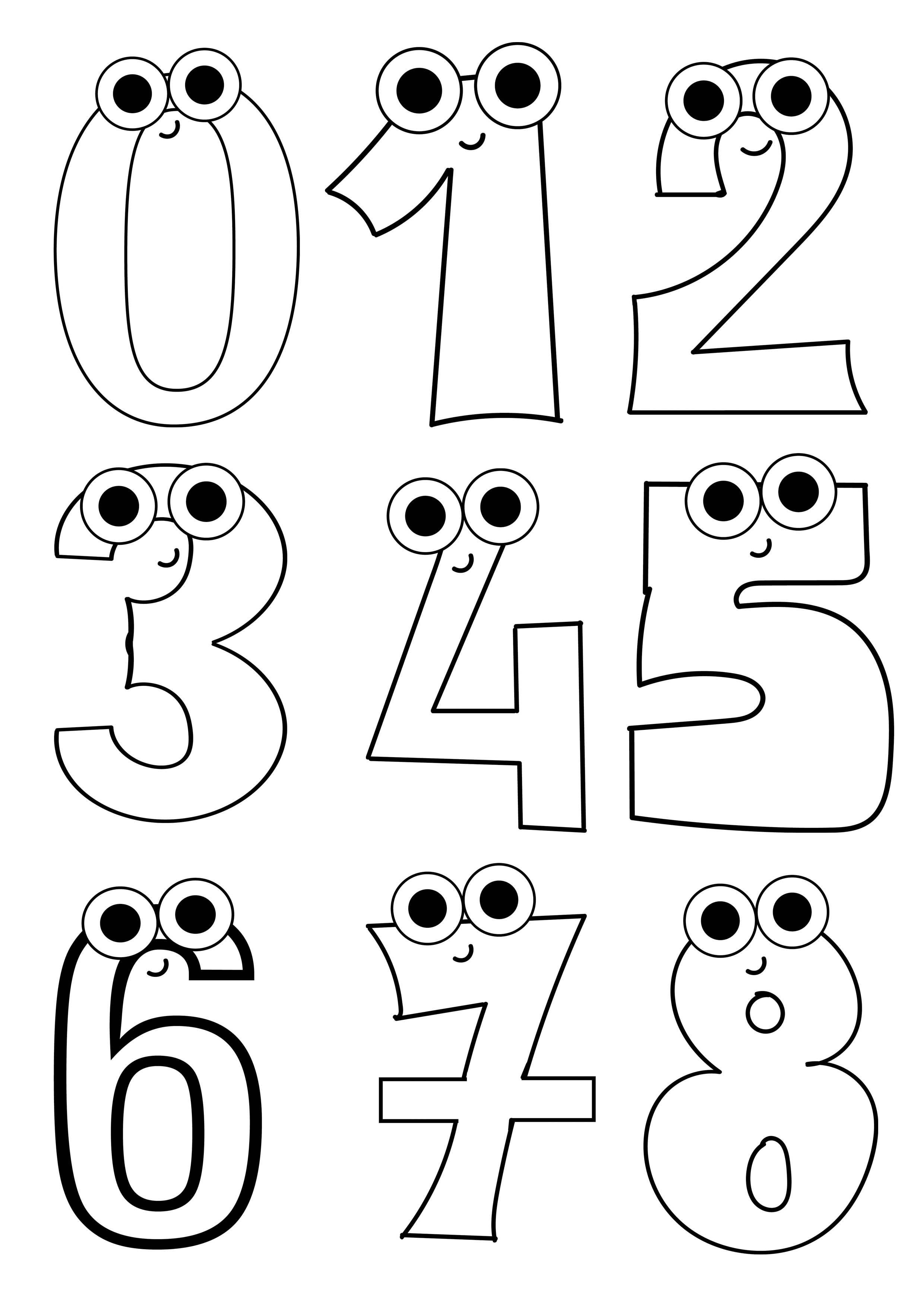 Birden Sekize Sayılar Boyama Sayfası Sayfa Boyama Sayılar