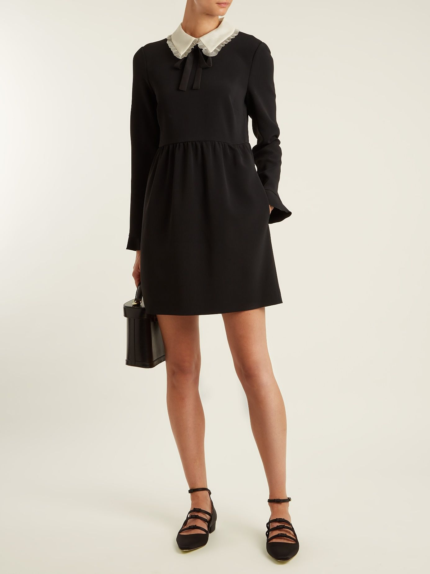 Click here to buy redvalentino stretchcrepe longsleeved dress at