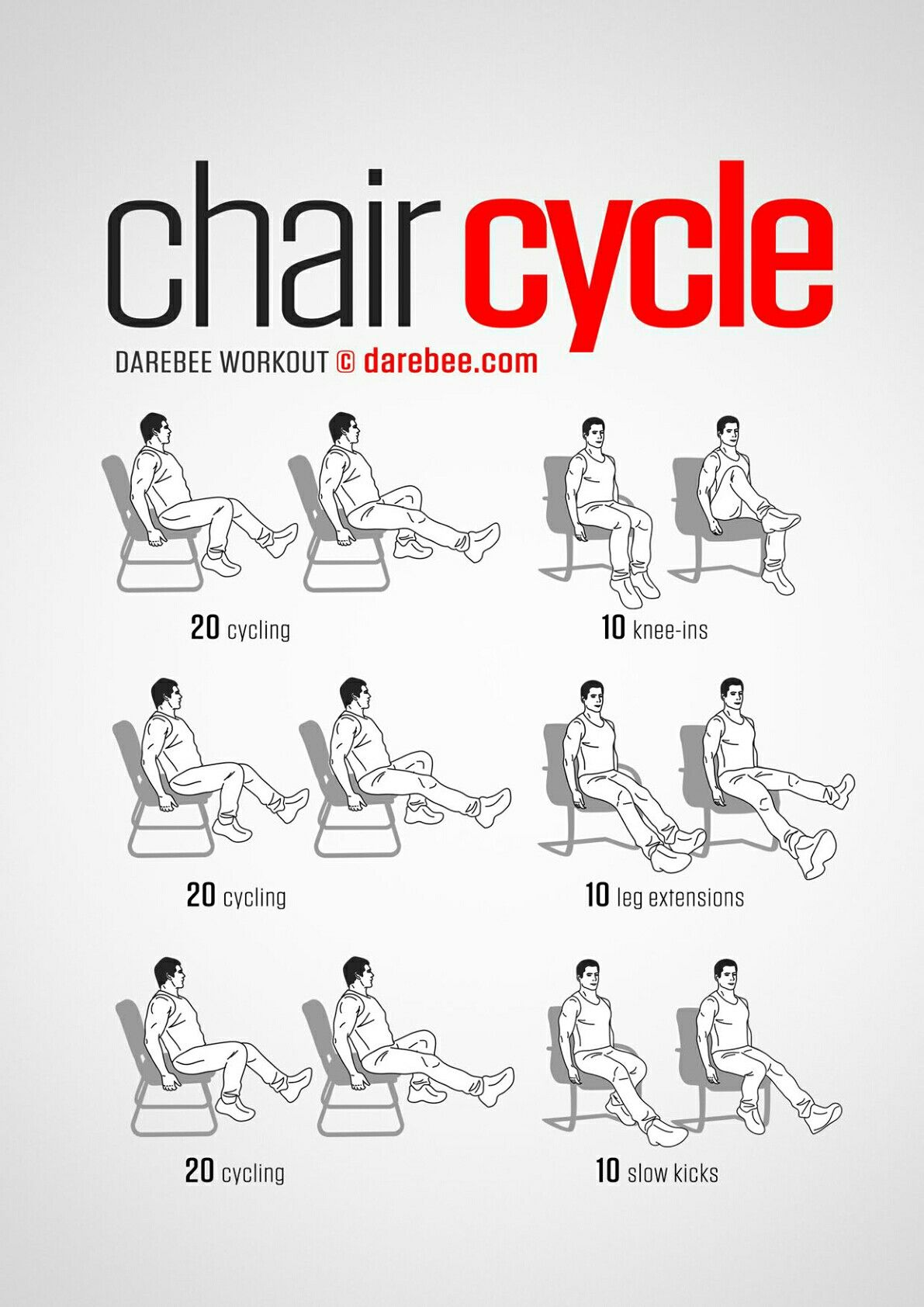 Chair Cycle Office Workout Chair exercises, Senior
