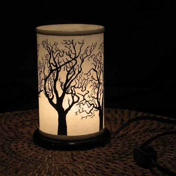Table top Night Light Electric Shoji Lantern Small by earthsteps, $38.00