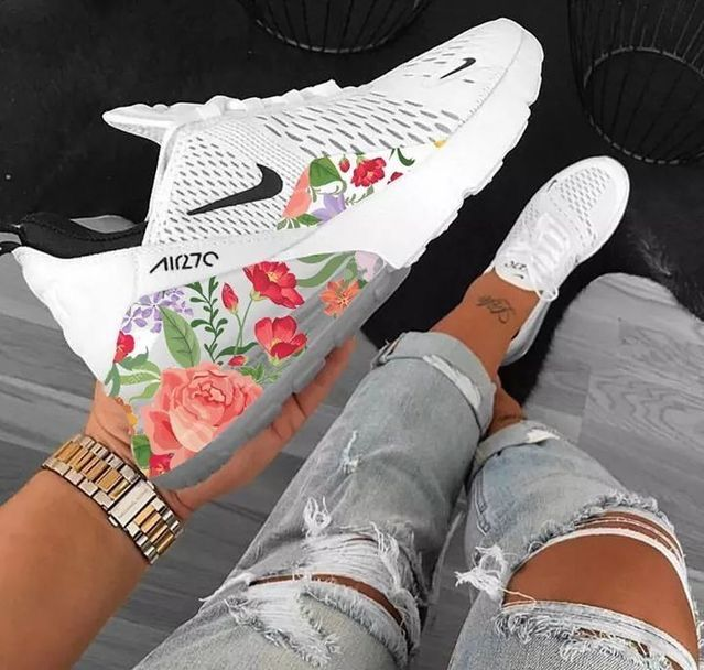 Pin by Brinika Mckenzie on Nike shoes women | Floral shoes