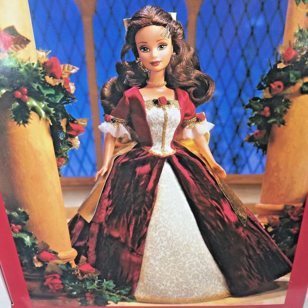Enchanted Christmas Cast.Disney 1997 Holiday Princess Belle Doll Beauty The Beast