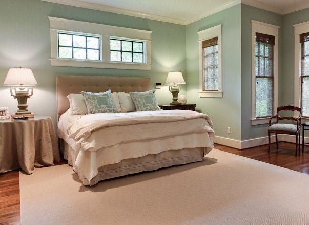 Aqua And Beige Bedroom