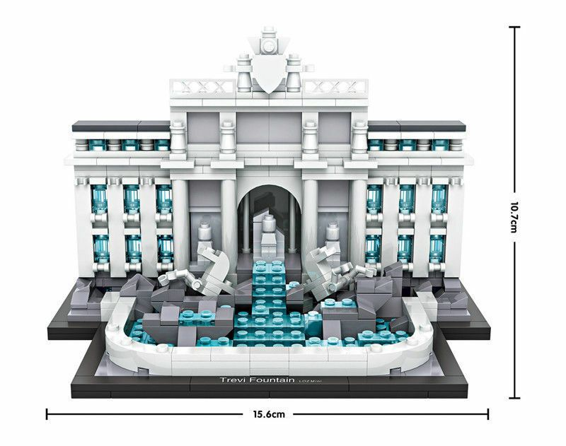Architecture Triumphal Arch Diamond Mini Building Nano Blocks Bricks Toys Gift