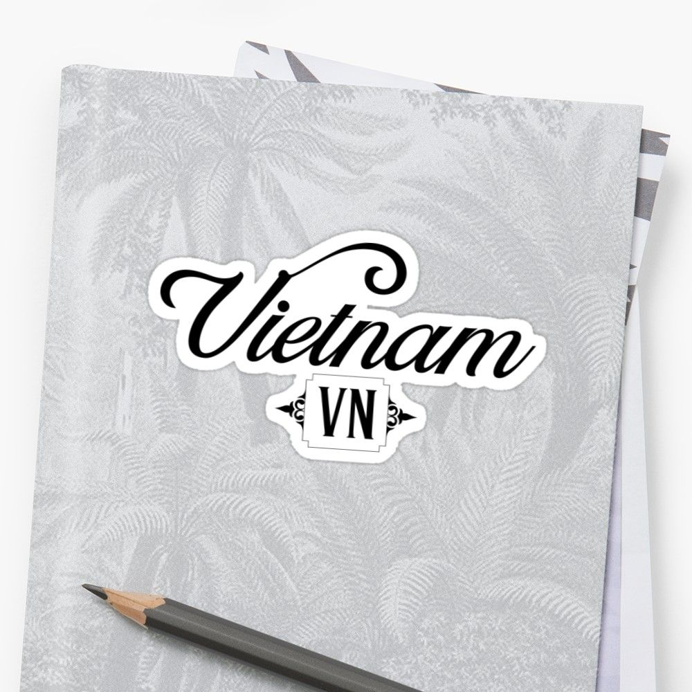 'Vietnam Country Code, VN' Sticker by Celticana (With
