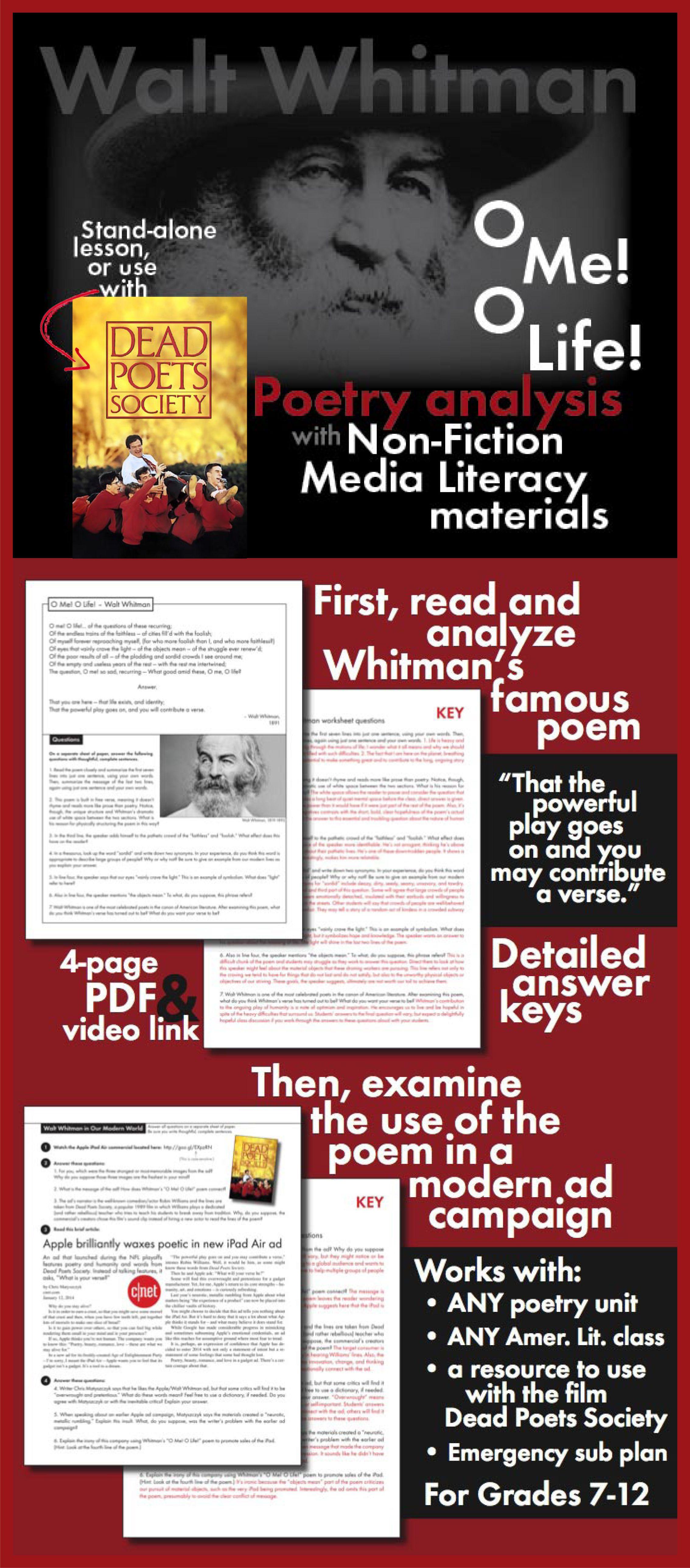 america walt whitman analysis