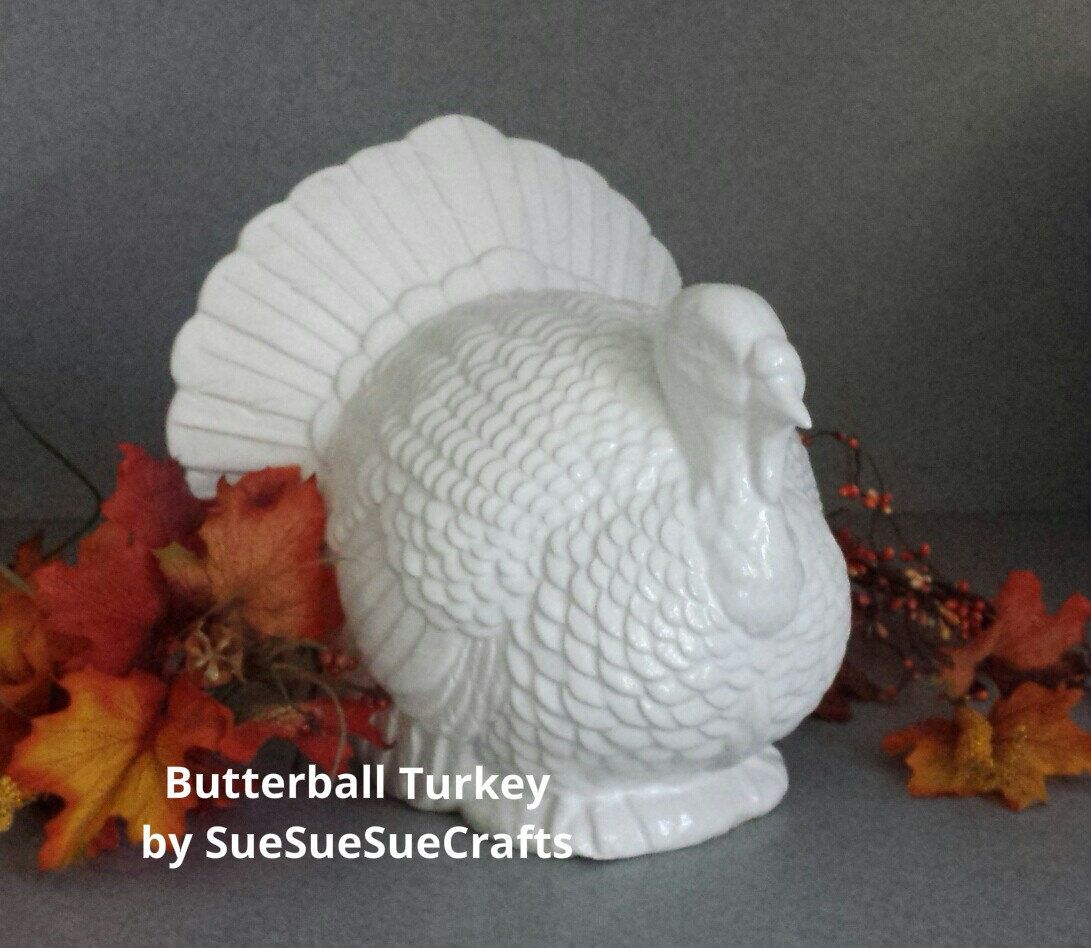 10 Inches Tall Table Top Handmade Ceramic Turkey Thanksgiving Centerpiece Butterball Turkey By Sues Handmade Statue Thanksgiving Centerpieces Handmade Ceramics