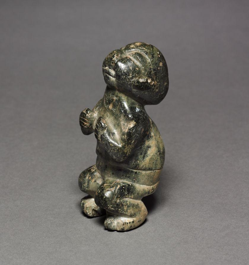 Crouching Figure 900-300 Bc Mexico Guerrero Olmec 1200-300 Serpentine - 11.60