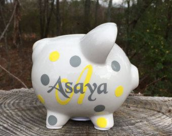 Personalized piggy bank kids piggy bank baby shower gift baby personalized piggy bank kids piggy bank baby shower gift baby shower gifts piggy bank personalized baby shower baby boy baby girl negle Images
