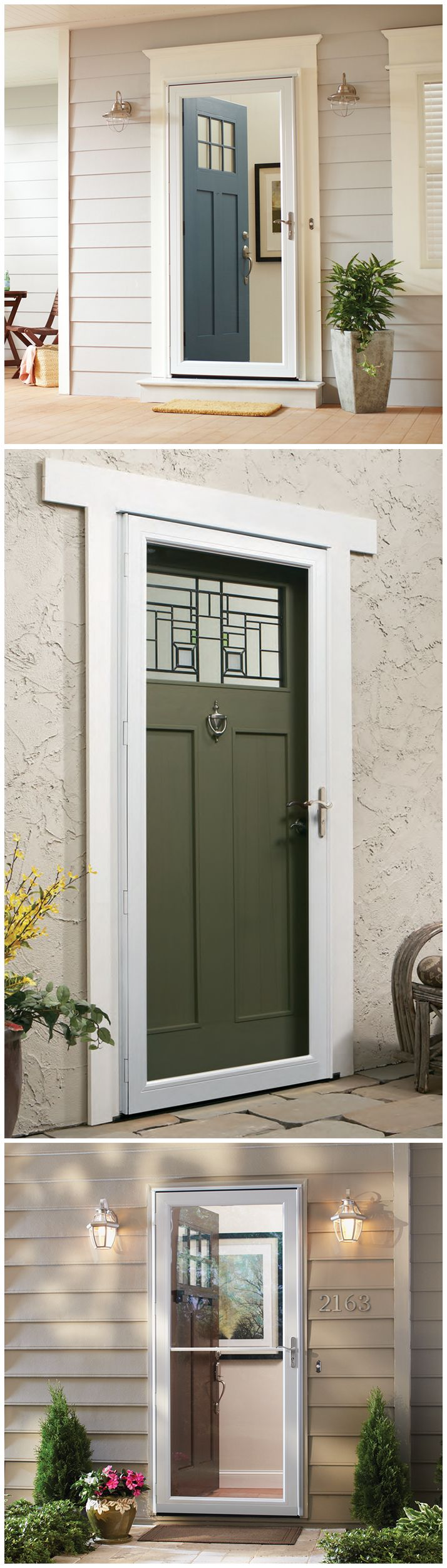 Andersen easy-install storm doors are prepped for quick ...