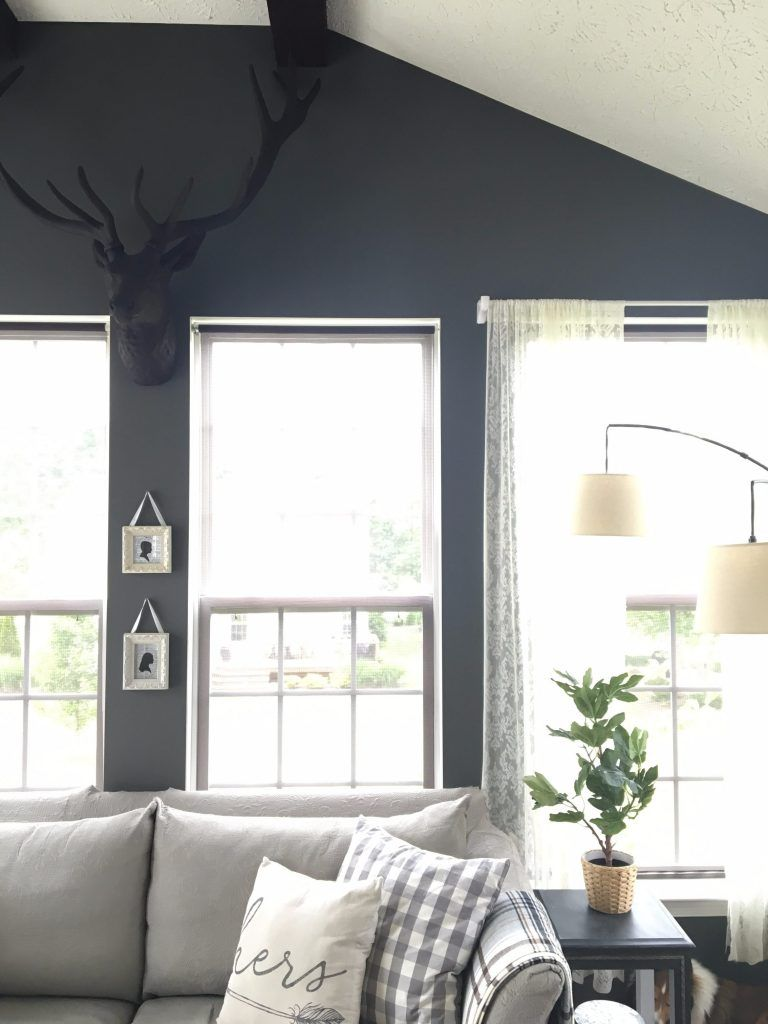 sunroom decorating tour   Kendall charcoal, Sunroom and Stag head
