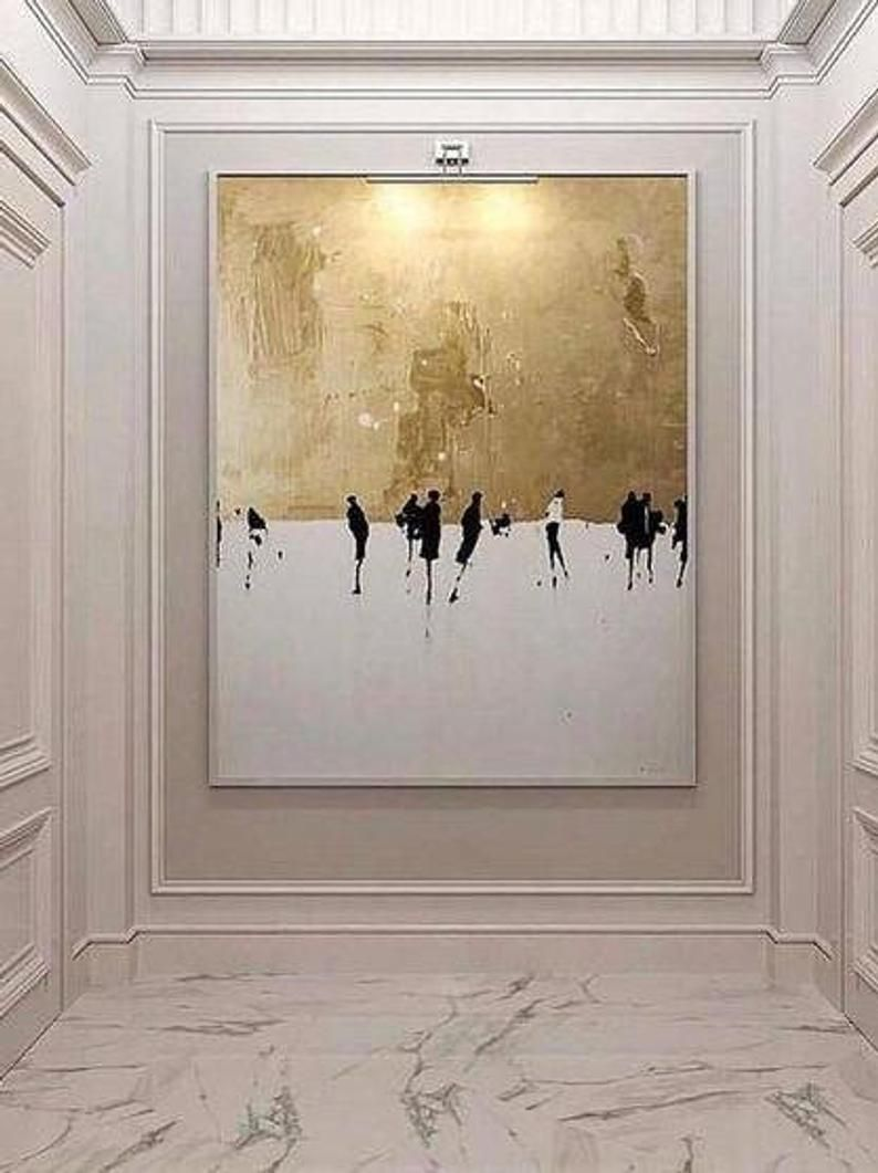 Abstract Gold And White Oil Painting Gold Wall Art Abstract Painting Oil Painting Canvas Oil Painting Abstract Abstract Art Painting Oil Painting Abstract