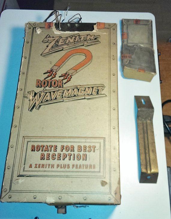 Vintage Zenith radio antenna WaveMagnet by VINTAGERADIOSONLINE