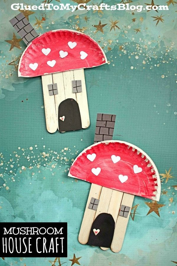 Photo of Popsicle Stick Mushroom House – Kid Craft Idea For Spring