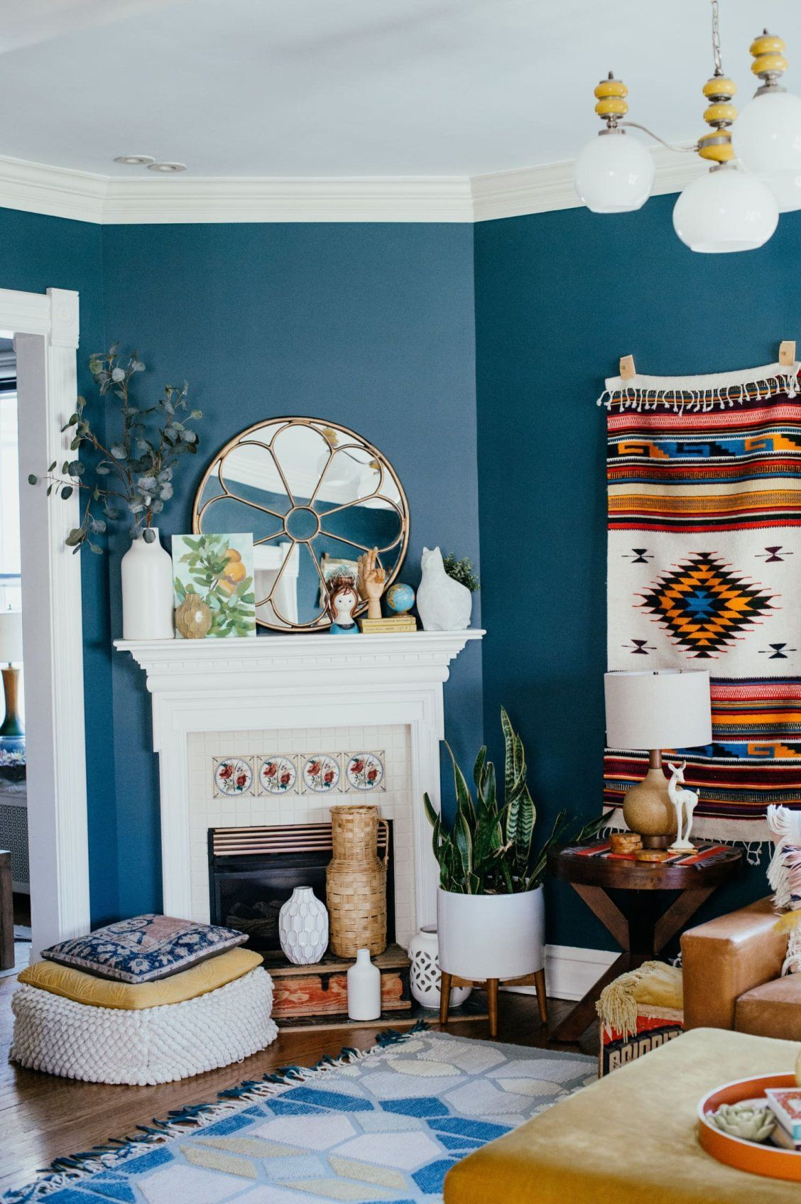 This Victorian House Is Full Of Color It Also Has Tons Of Southwestern And Boho Elements Lik Paint Colors For Living Room Boho Living Room Old Victorian Homes