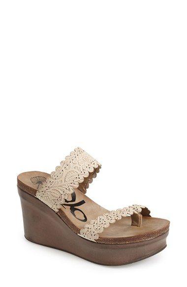 661b4b84112 OTBT  Beach Park  Leather Wedge Thong Sandal (Women)