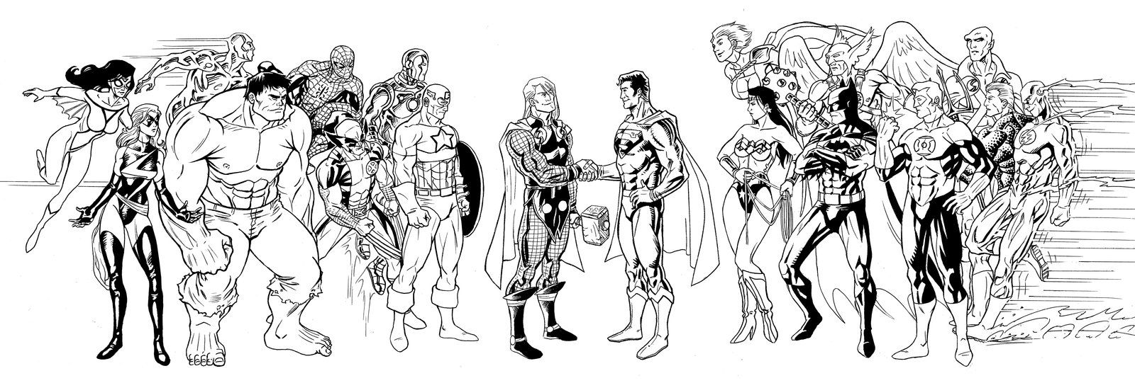 Justice League - Avengers by Ericdimension.deviantart.com on ...