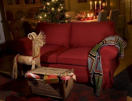 Dark red ikea ektorp sofa