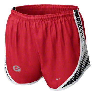 4517b0259990 Georgia Bulldogs Women's Nike Red Seasonal Tempo Shorts #uga #gabulldogs # bulldogs