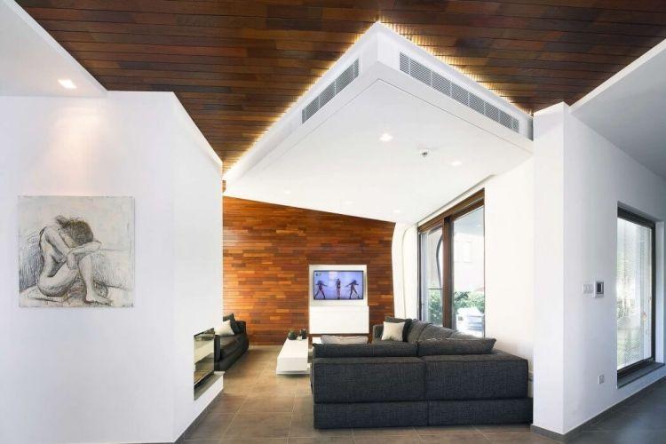 Einladendes Wohnzimmer in Weiß einrichten \u2013 80 tolle Ideen - wohnzimmer ideen mit holz
