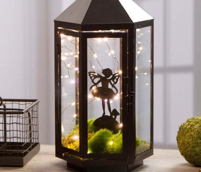 Lighted Fairy Garden Lantern Fairygardening Dekorative Laternen Laterne Garten Feenhaus
