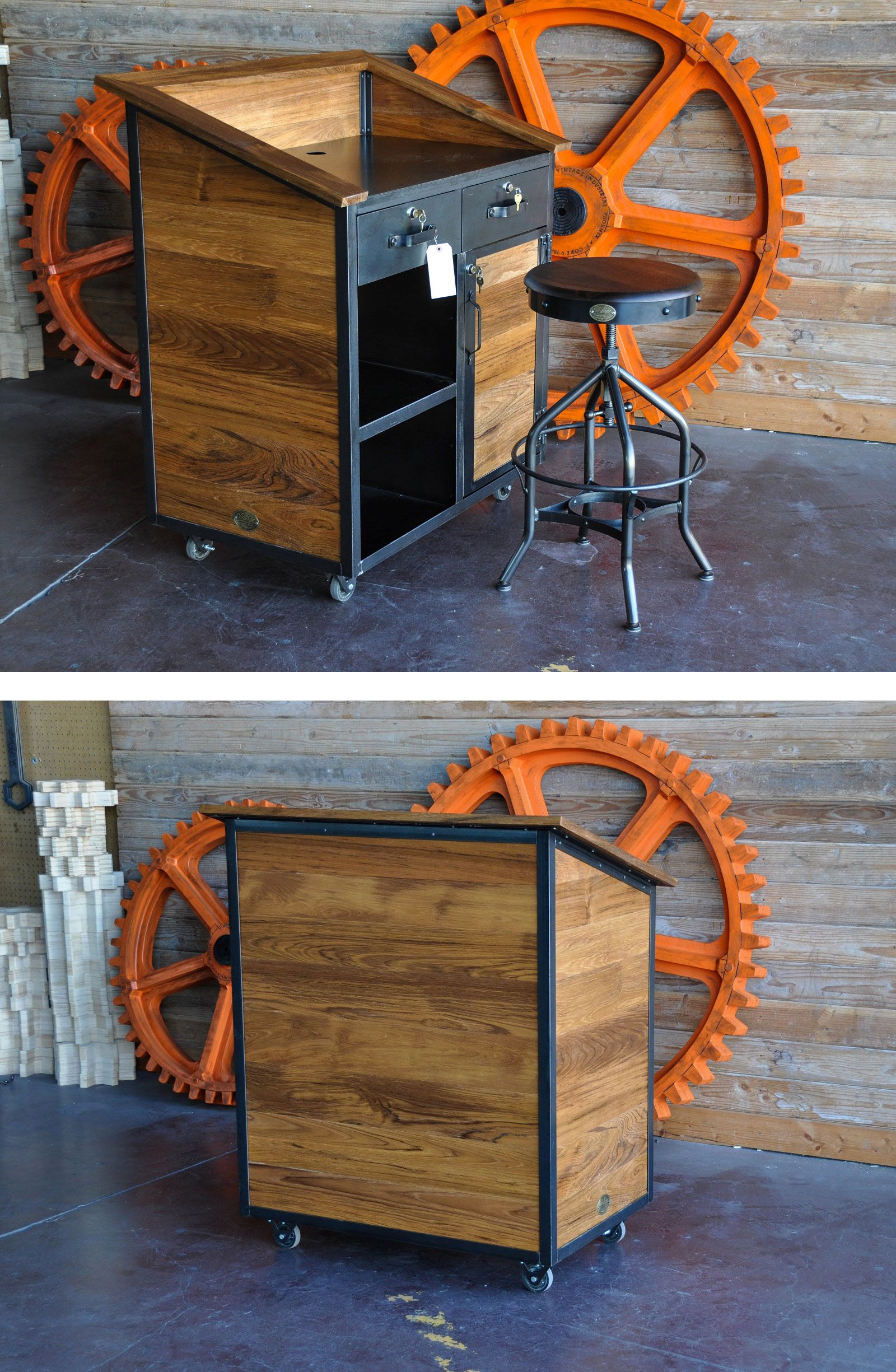 Hilton Hostess Stand by Vintage Industrial Furniture in Phoenix, AZ #vintageindustrialfurniture