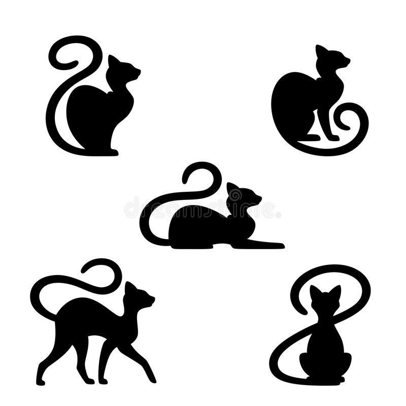 Download Black Cat Stock Vector Illustration Of Pride Illustration