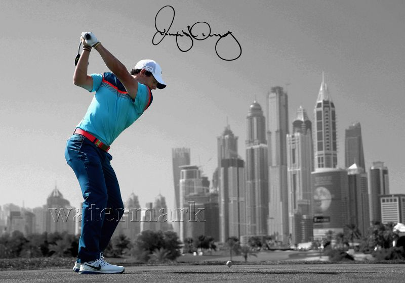 Rory Mcilroy 2015 Signed Print Poster Photo Golf The Masters Art Nike Woods New お気に入り