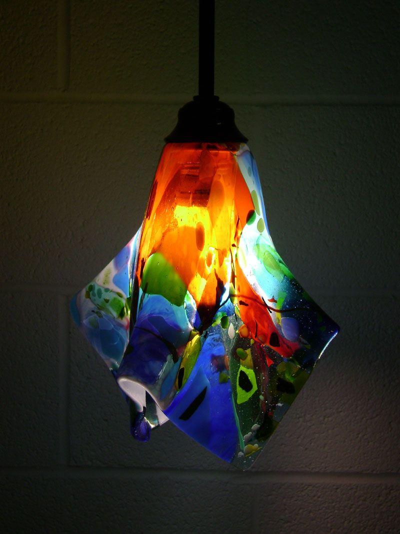 Lighting Glass Pendant Light Glass Light Fixtures Fused Glass