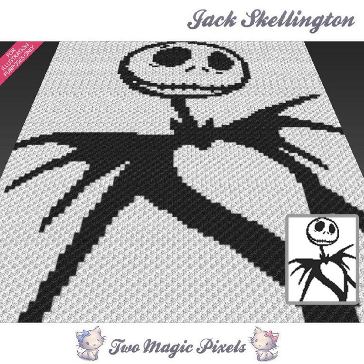 Jack Skellington C2C Crochet Graph | Crochet, Afghans and Crochet ...