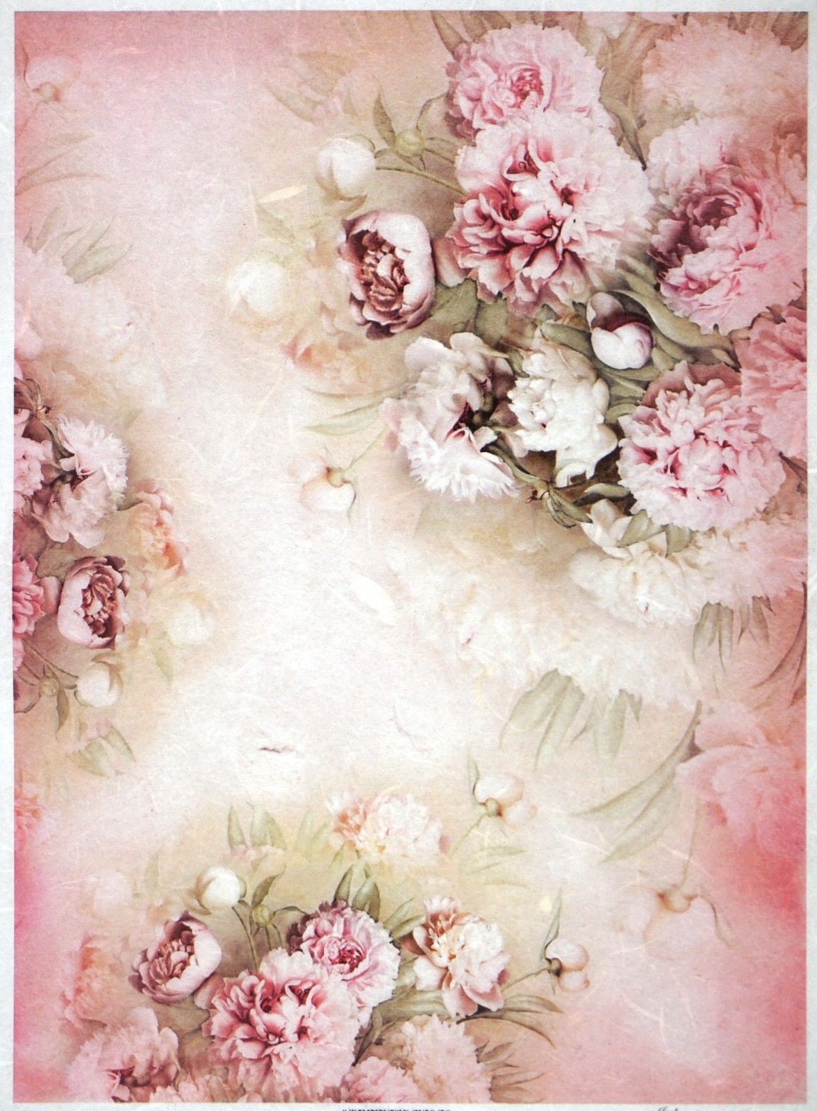 FLOWERS 5// CRAFT PAPER DECOUPAGE SHEETS RICE DECOUPAGE PAPER SCRAPBOOKING