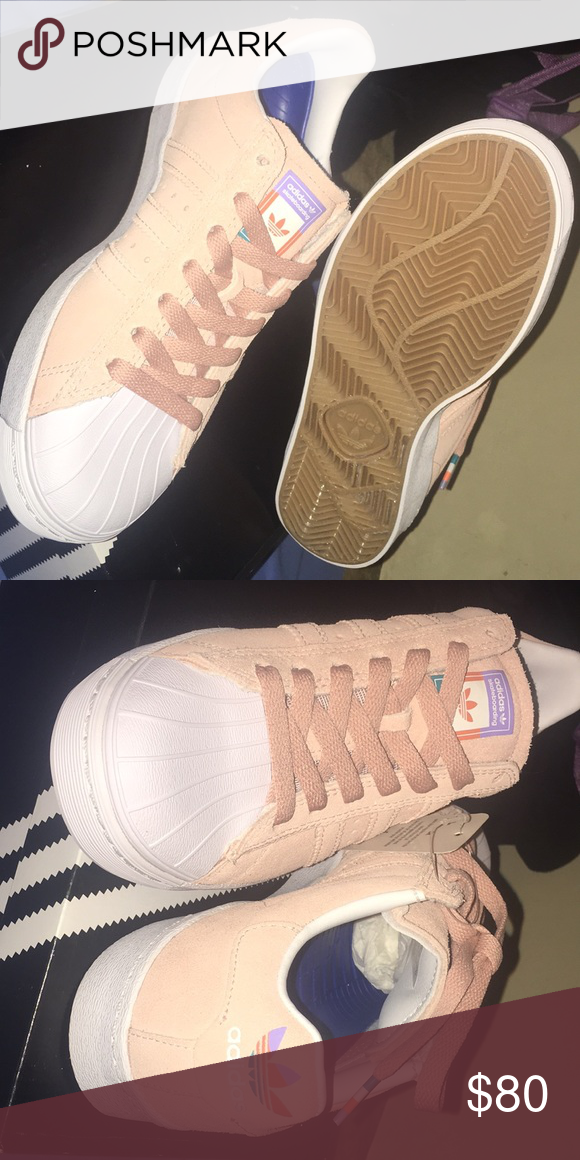 0cbe9317ad1 Adidas Superstar Vulc ADV Pastel Pink Shoes A wonderful blend of classic  adidas heritage re-adapted for the modern era. Men's 4 1/2 Women's 6 adidas  Shoes ...