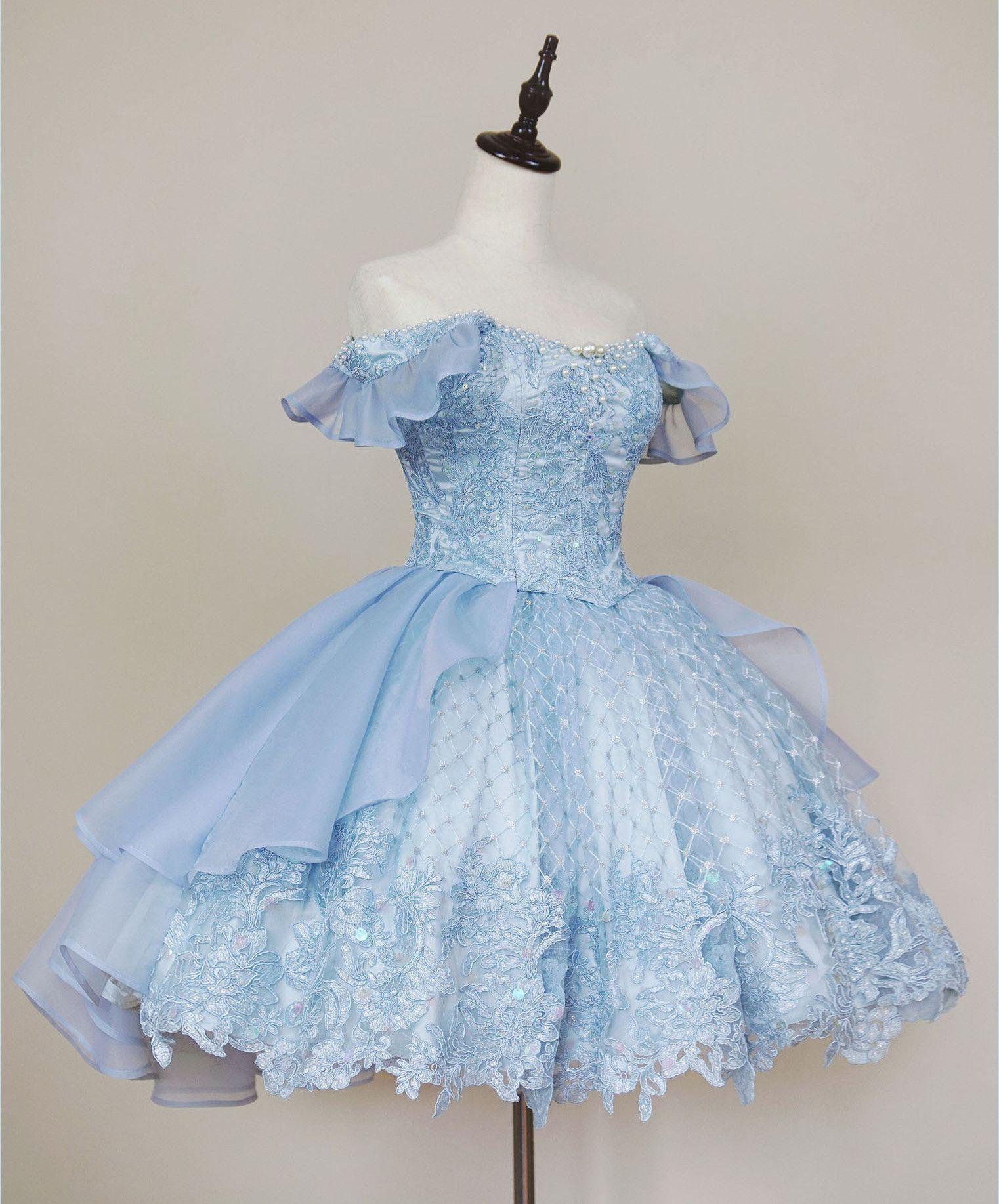 White Classic Lolita Dress White Wedding Dress White Lolita Dress Vintage White Chiffon Dress With Lace and Navy Blue Ribbon