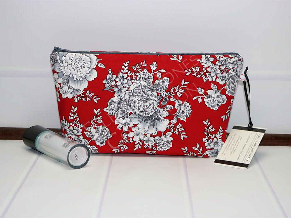 1d1629aebc Small Zipper Bag - Travel Cosmetic Bag - Floral Makeup Bag - Zipper Cosmetic  Bag - Cosmetic Pouch - Makeup Pouch - Small Toilet Bag by TalfourdJones on  Etsy