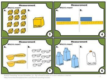 FREE Download Measurement Task Cards U.S. Standard & Metric 4th 5th Grade: You will receive six Common Core math task cards to use in your math cen…