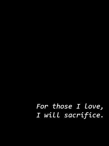 I Will Sacrifice For Those I Love I Have Even Lost Myself In The