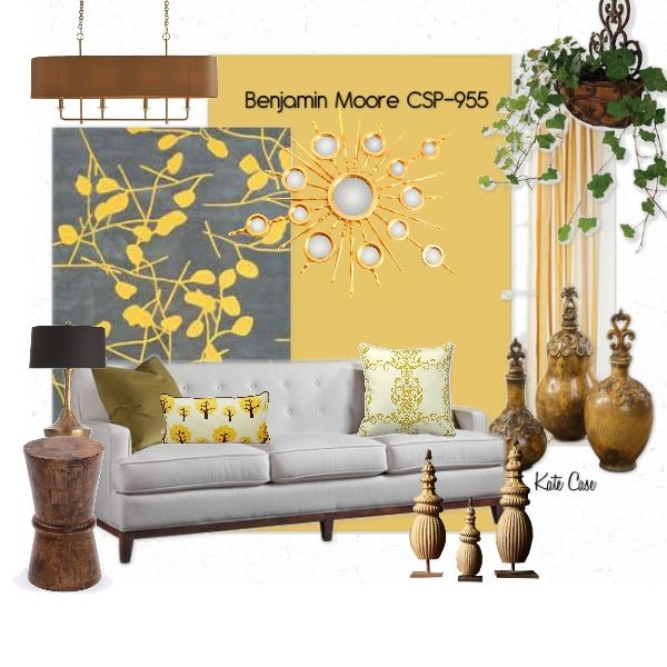 Sunshine features Benjamin Moore CSP-955 for a wall paint color ...