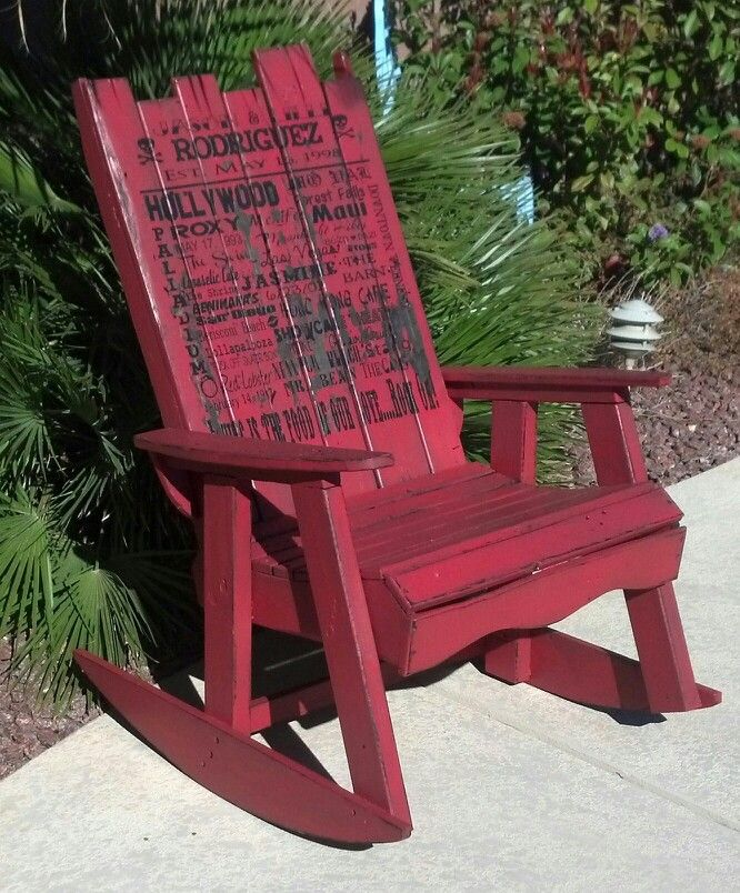 Rocking chair made from pallets pallet rocking chair