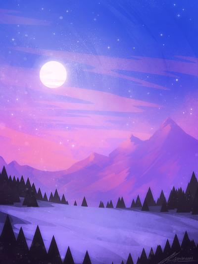 Purple Mountain Scribble Scenery Wallpaper Fantasy Art Landscapes Landscape Wallpaper