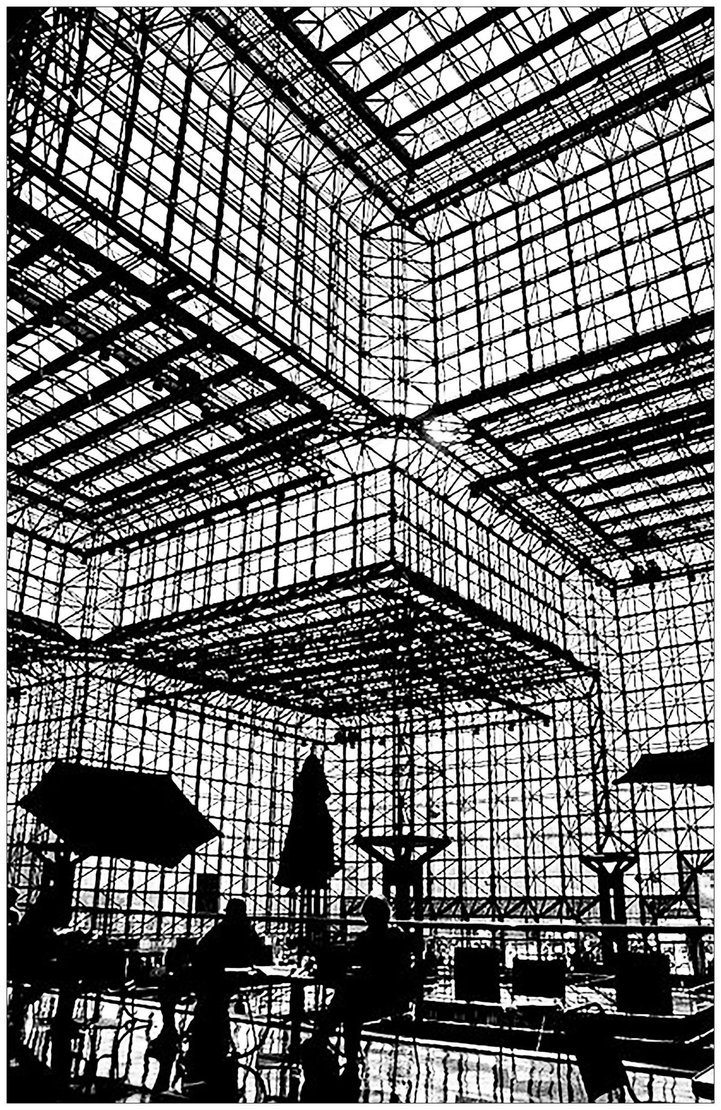 Shadows Of People Eating In Pei  Jacob Javits Center In New York - Nyc map javits center