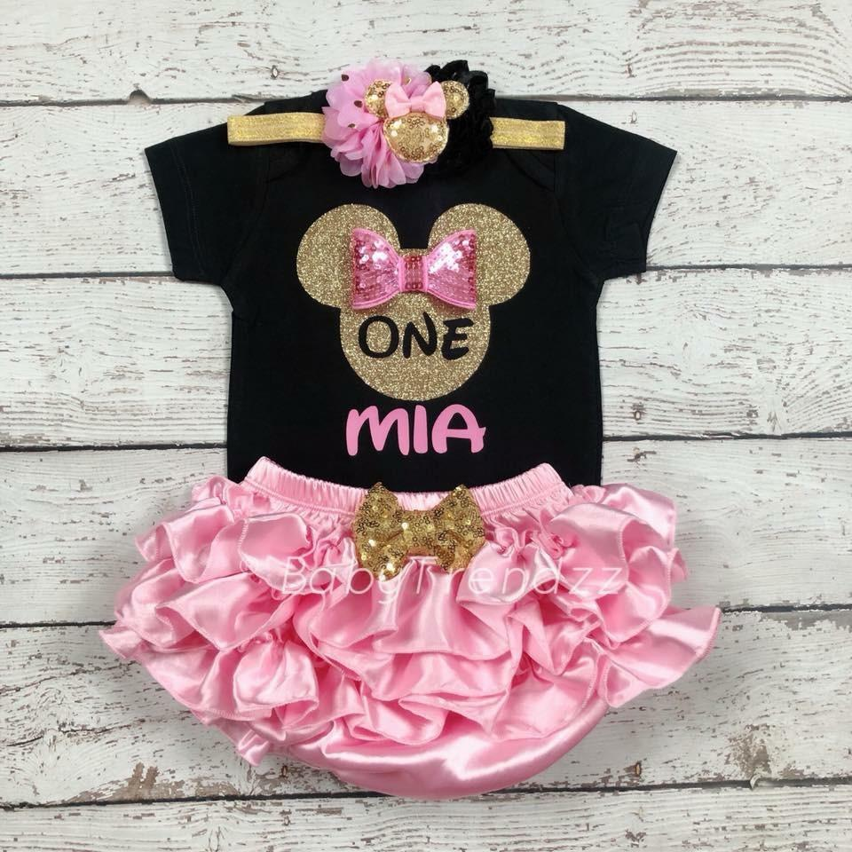 Minnie Mouse 1st Birthday Outfit.Minnie Birthday First Birthday Outfit Minnie Mouse In 2019