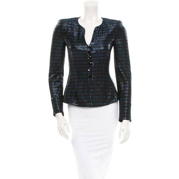 Armani Collezioni Pre-owned Armani Collezioni Blazer (165 CAD) ❤ liked on Polyvore featuring outerwear, jackets, blazers, black, black blazer, long sleeve jacket, long sleeve blazer, black jacket and armani collezioni