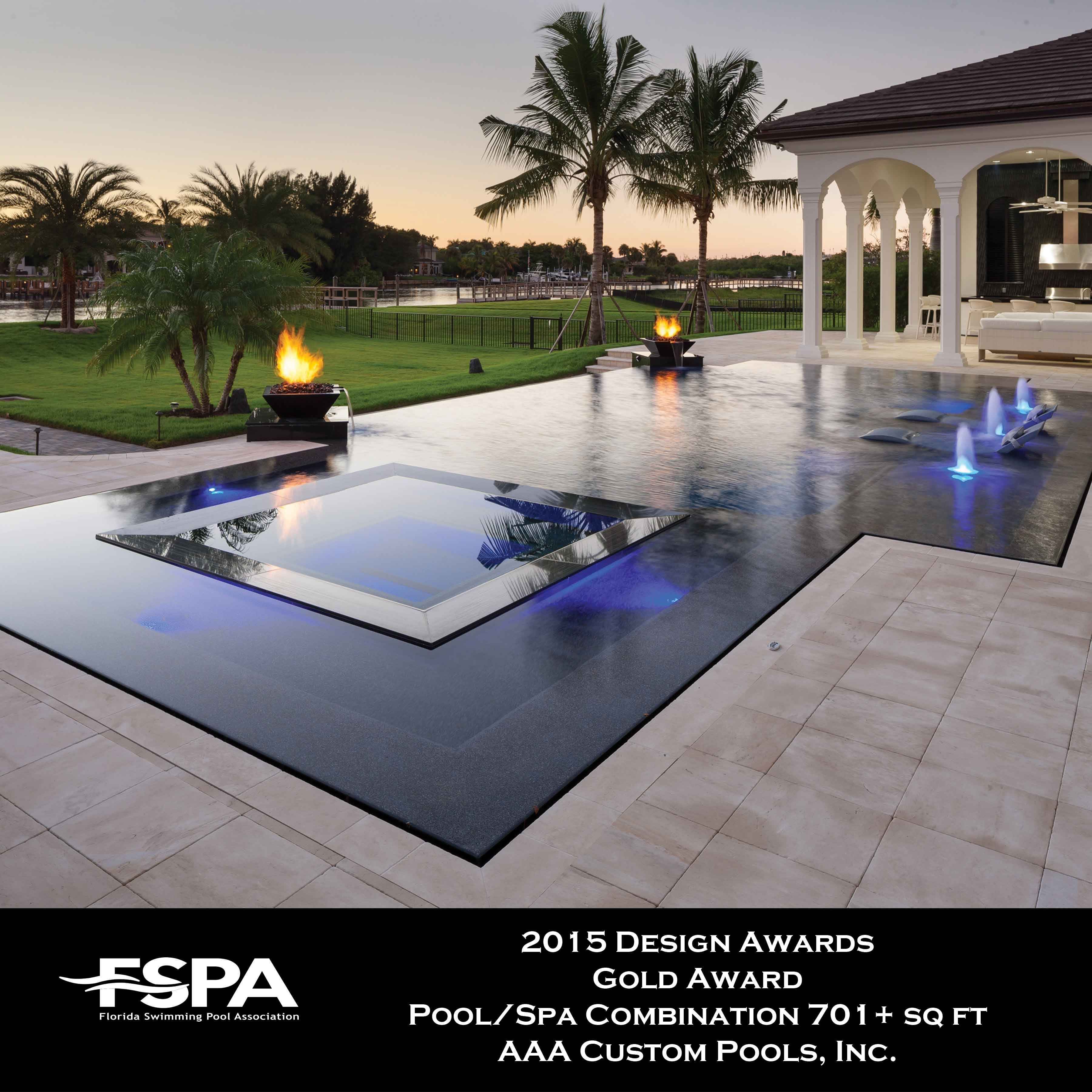 Gold Award Aaa Custom Pools Fspa Design Awards 2015 In