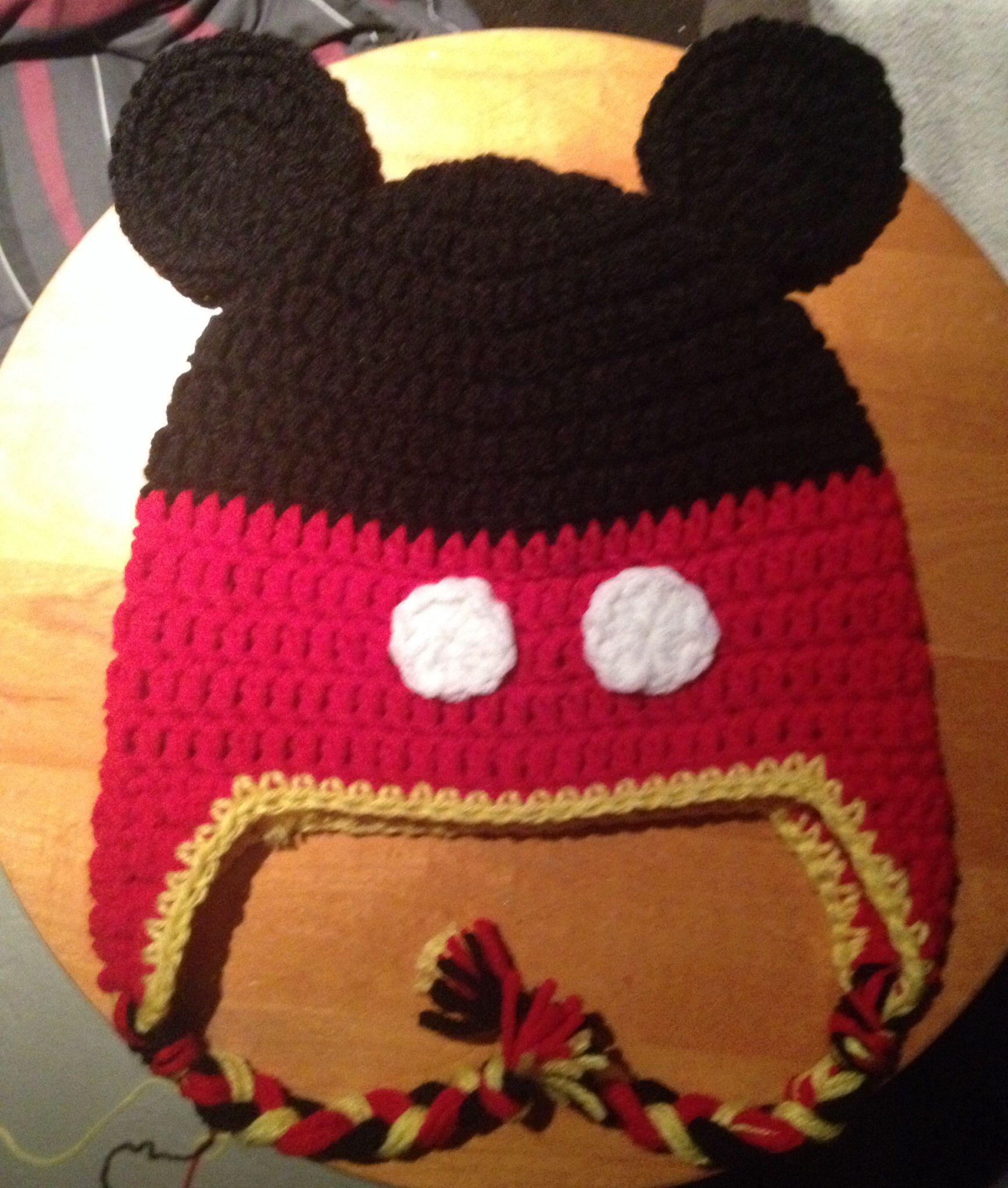 Encantador Patrón De Sombrero Del Ganchillo Del Ratón Mickey Molde ...