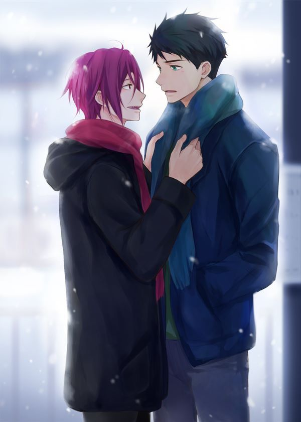 Sourin Sousuke Yamazaki X Rin Matsuoka Free Anime Free Iwatobi Splash Free They have been indexed as male. pinterest