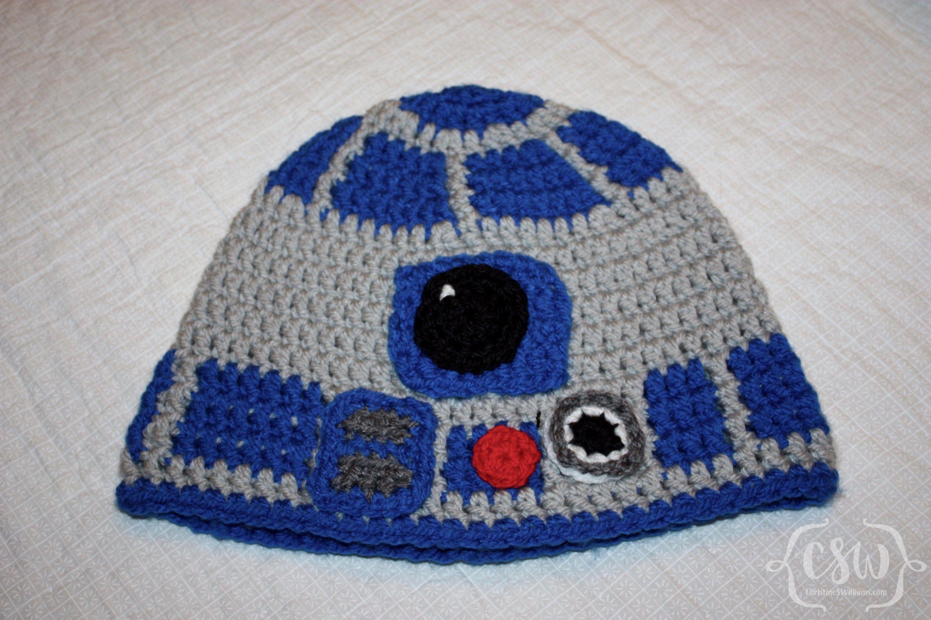 R2D2 Hat | Crochet crafts, Crochet and Free crochet